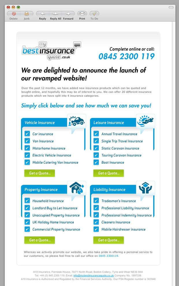 My Best Insurance Quote email template | Email Inspiration ...