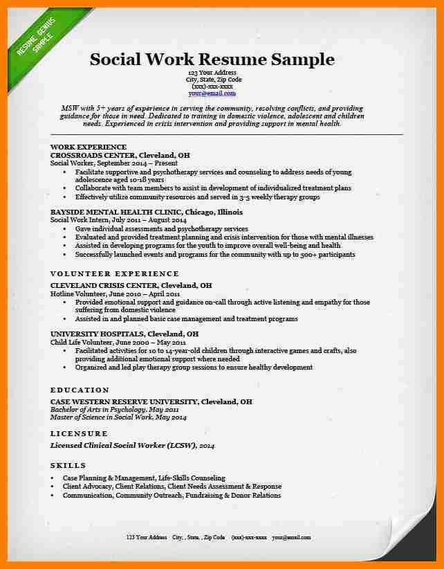 10+ social worker resume sample | science-resume