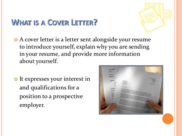 Writing a good cover letter