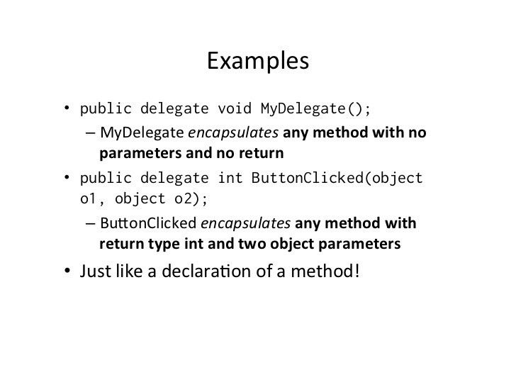 C# Delegates and Event Handling