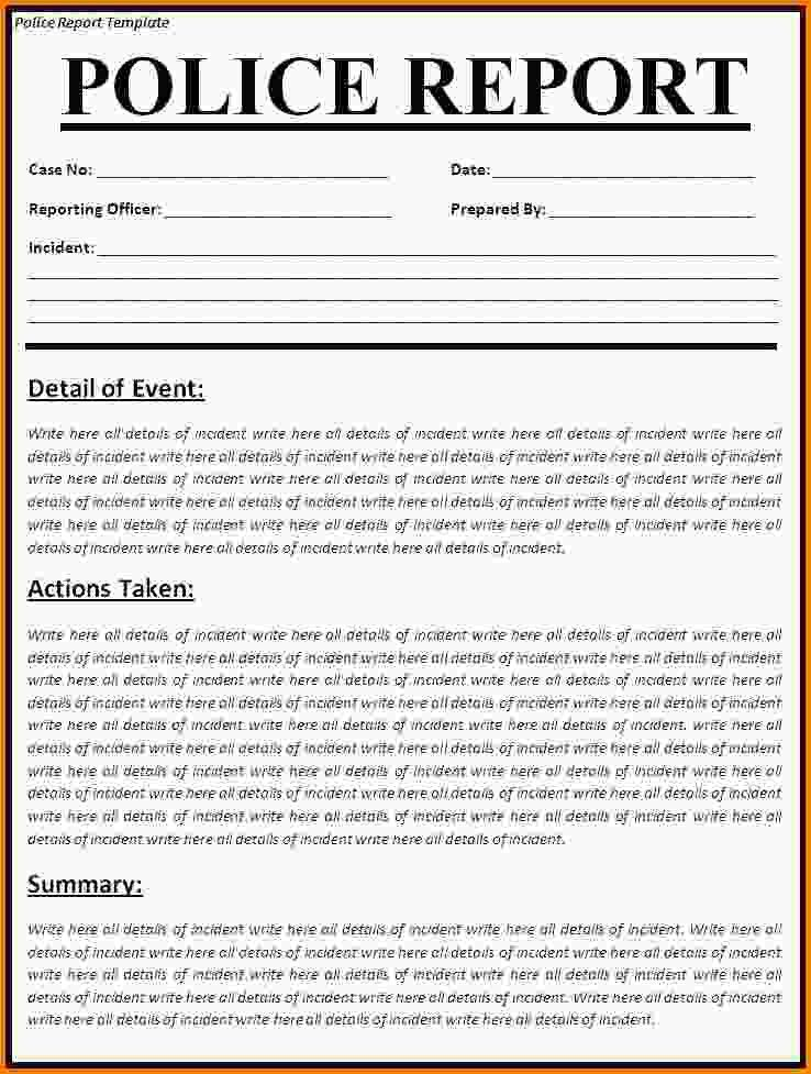 4+ how to write a police report | Letter Template Word