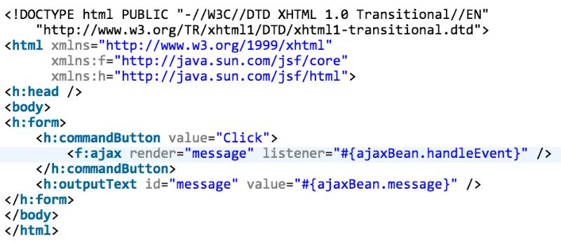 JSF & AJAX - Moving XHR calls from JSF to jQuery / native JS ...