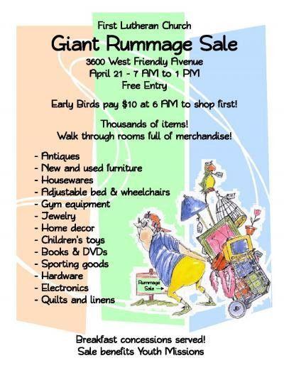 Youth Rummage Sale | First Lutheran Church in Greensboro, NC