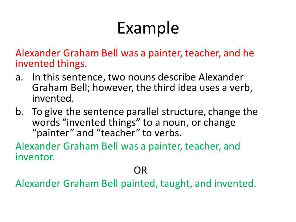Parallel Structure bullet You will take notes on any information ...