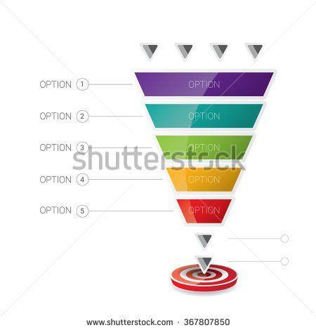 Conversion Sales Funnel Template Concept Stock Vector 217834234 ...