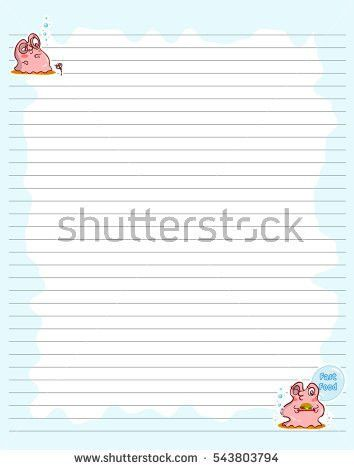 Vector Printing Paper Note Cute Paper Stock Vector 540263719 ...