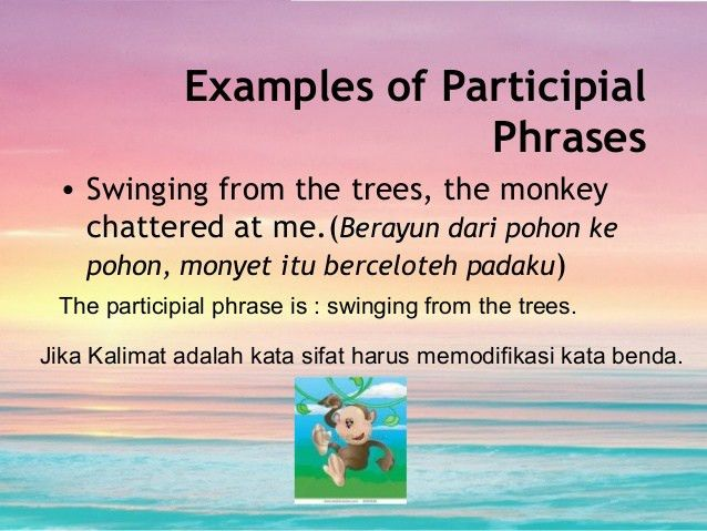 The participial phrases ulfa maya syafira