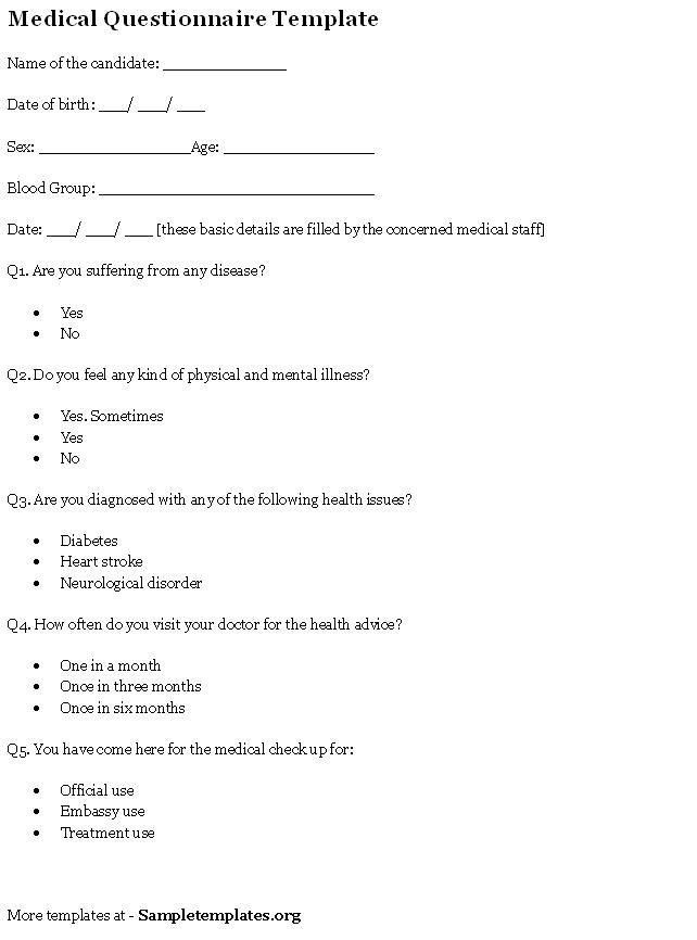 Biography Questionnaire Template California writing website ...