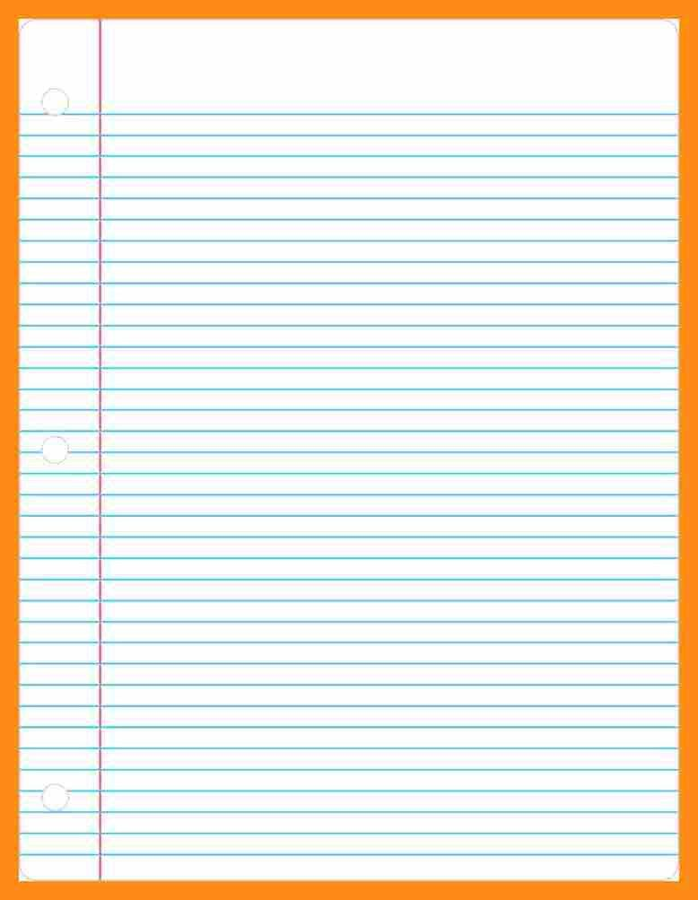 8+ ruled lined paper template | actor resumed