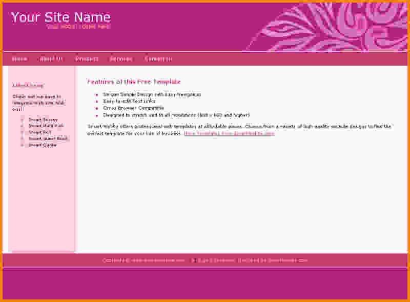 8+ free dreamweaver templates - LetterHead Template Sample
