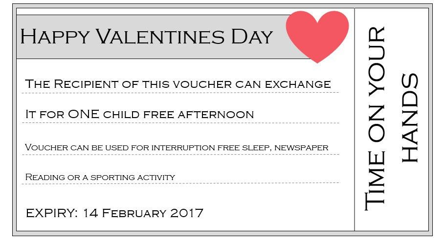 Customisable Valentines printable vouchers - Muddling Along ...