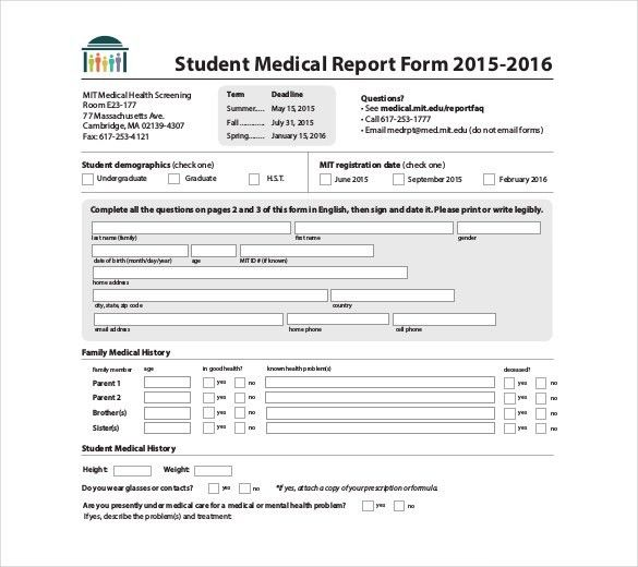 8+ Medical Report Templates - Free Sample, Example, Format ...