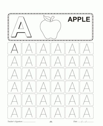 Capital Letter Writing A Printable Coloring Worksheet