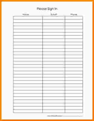 8+ email sign up sheet template | nypd resume