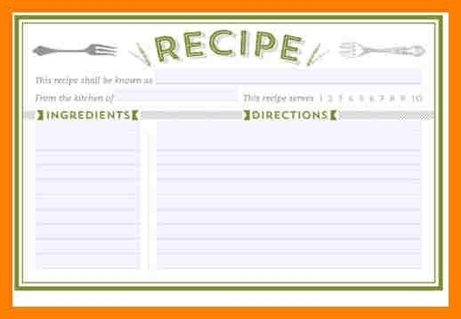 5+ free recipe templates for word | packaging clerks