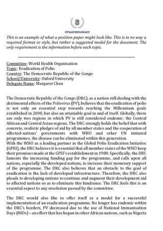 Narrative Essay Papers Sample Position Paper By Strasdiplomacy Iep Strasbourg  Issuu Romeo And Juliet Essay Thesis also Health Needs Assessment Essay Position Paper Example Sample White Paper Template  Free  An Essay On Science