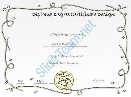College Fullfilment diploma Certificate Template of completion ...