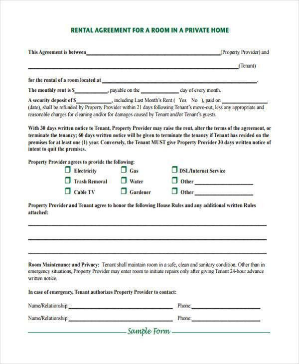 Vacation Rental Agreement Example. 42 Rental Application Forms ...