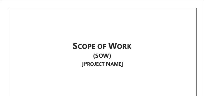 Scope of Work Template for Microsoft Word 2013 | Robert McQuaig Blog
