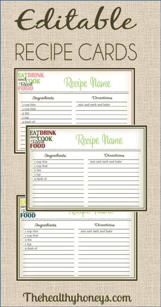31 best RECIPE CARDS TO PRINT images on Pinterest | Printable ...