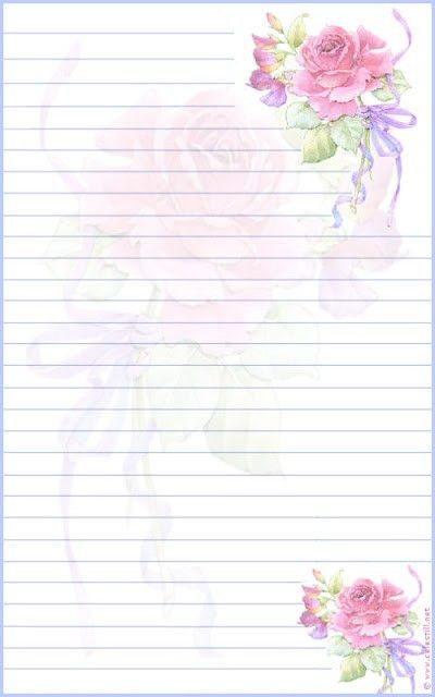 roses lined stationery | Arts♡Crafts❤Paper❤Stationery ...