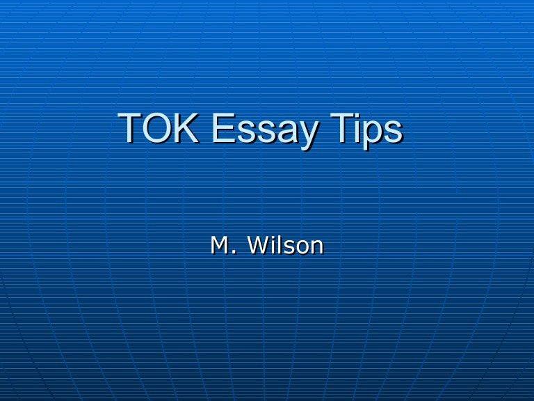 Tok essay ppt