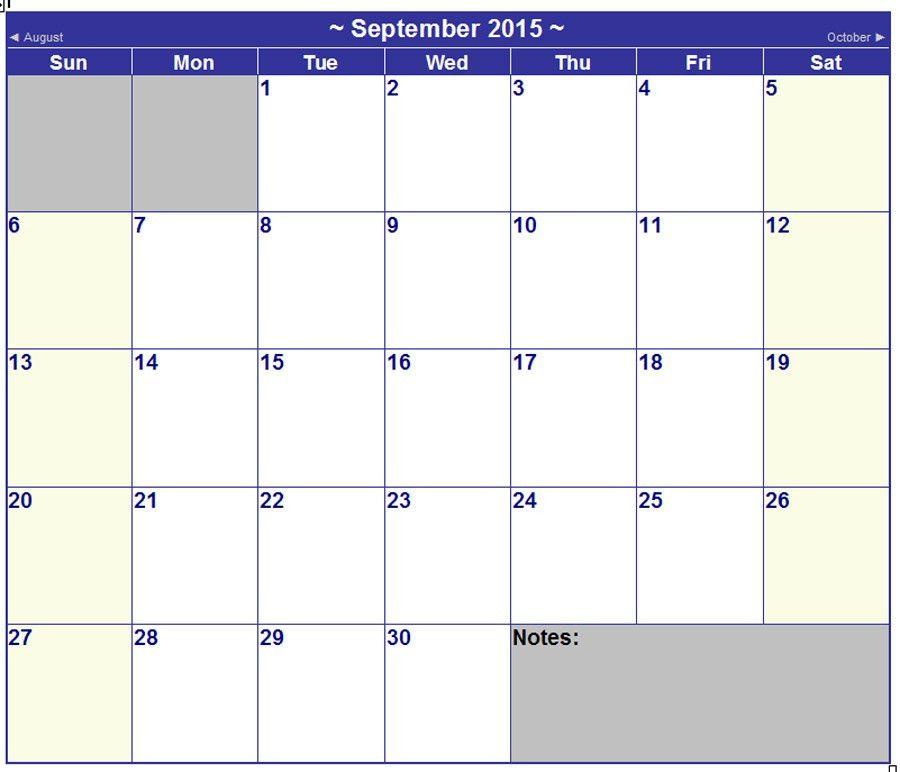 16 2015 Word Calendar Template Images - 2015 Monthly Calendar ...