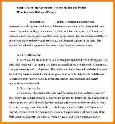11+ Child Support Agreement | Resume Reference