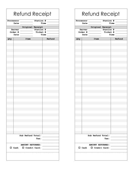 Refund Receipt Template. receipt template 100 free receipts send ...