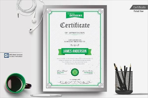 8+ Examples of Certificate of Appreciation Examples, Samples