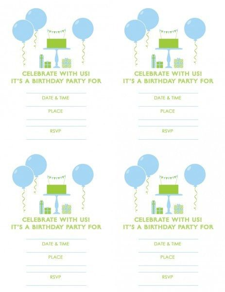 Free Printable Birthday Party Invitations   THERUNTIME.COM