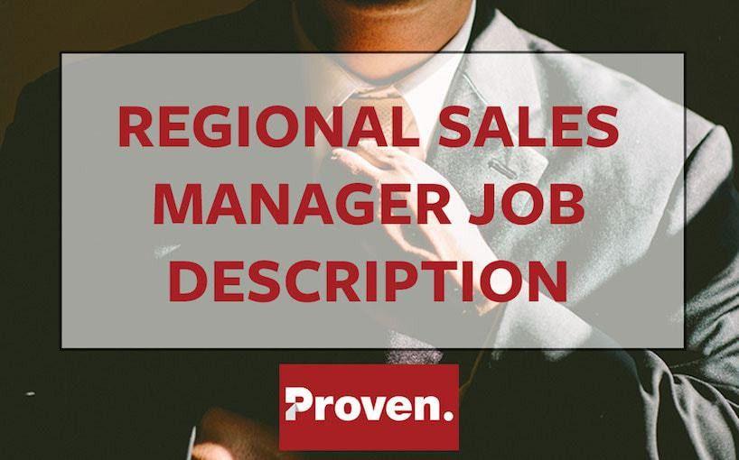 The Perfect Regional Sales Manager Job Description