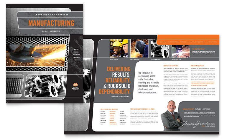 Manufacturing Engineering Brochure Template - Word & Publisher