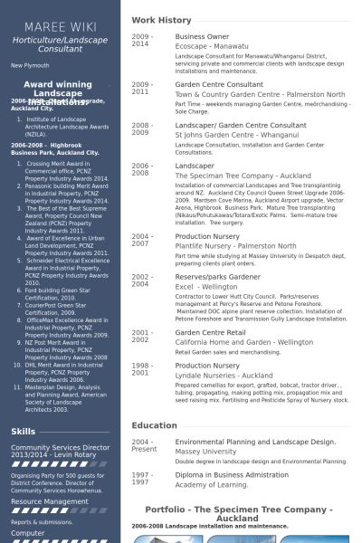 business owner resumes