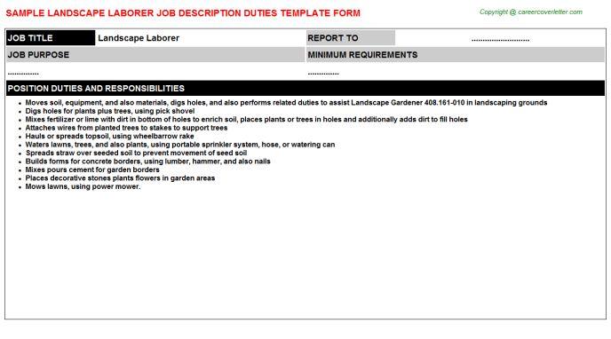 Landscape Laborer Job Title Docs