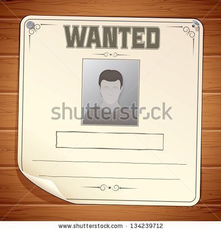 Wanted Poster Template Blank Sign On Stock Vector 132558263 ...