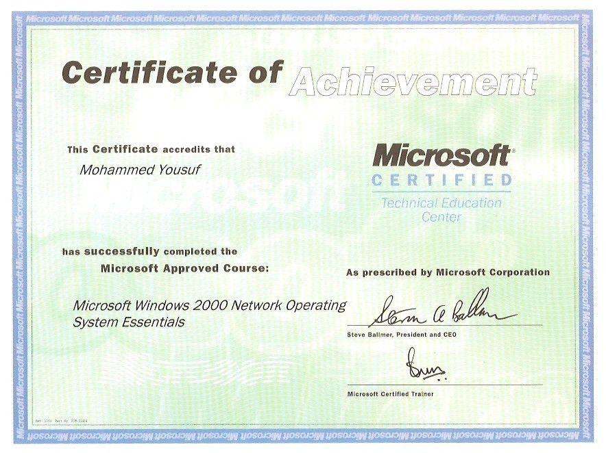 Muhammad Certificates