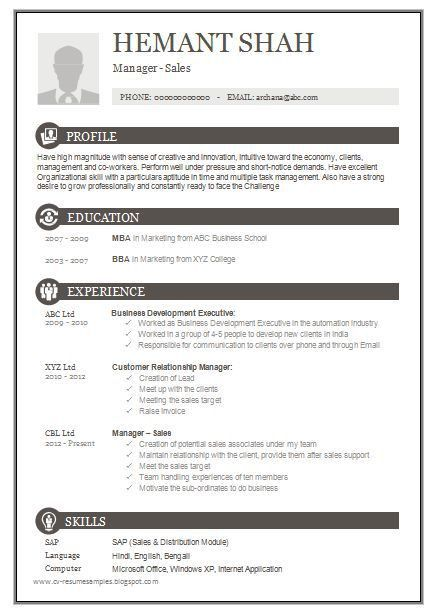Best 20+ Cv resume sample ideas on Pinterest | Cv format sample ...