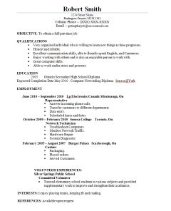 example student resume sample student resume student resume ...