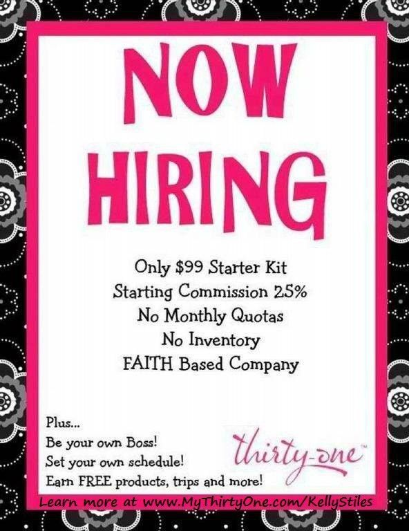 NOW HIRING!! Learn more about Thirty-One and all of its amazing ...