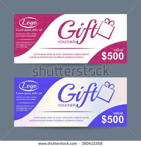 Gift Voucher Template Can Be Use Stock Vector 448603237 - Shutterstock