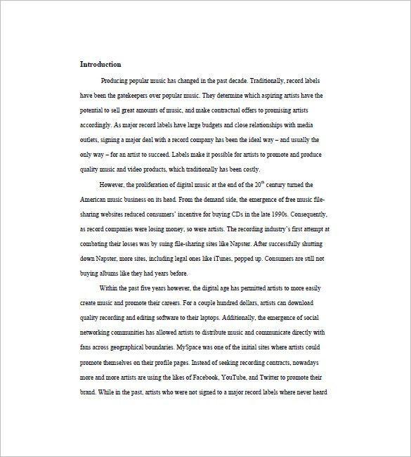 Music Marketing Plan Template -10+ Free Word, Excel, PDF Format ...