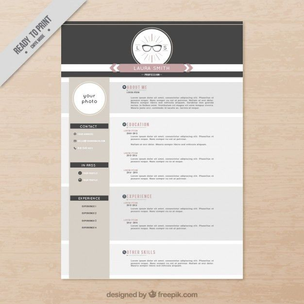 Sophisticated resume template Vector | Premium Download
