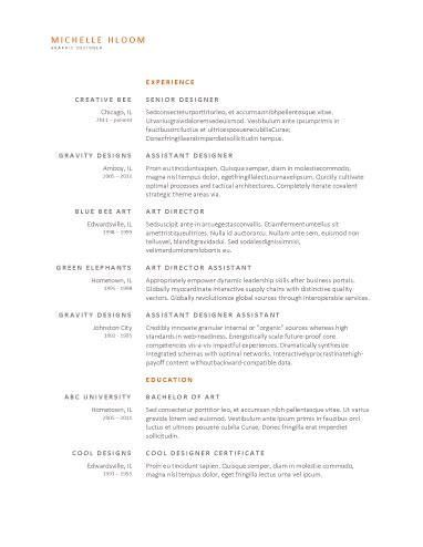 Upfront - Free Resume Template by Hloom.com   resume templates ...