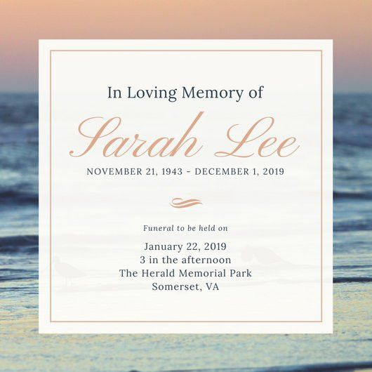 Memorial Service Invitation Template. 10 best images of memorial ...