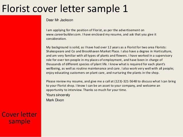 florist cover letter - Floral Assistant Sample Resume