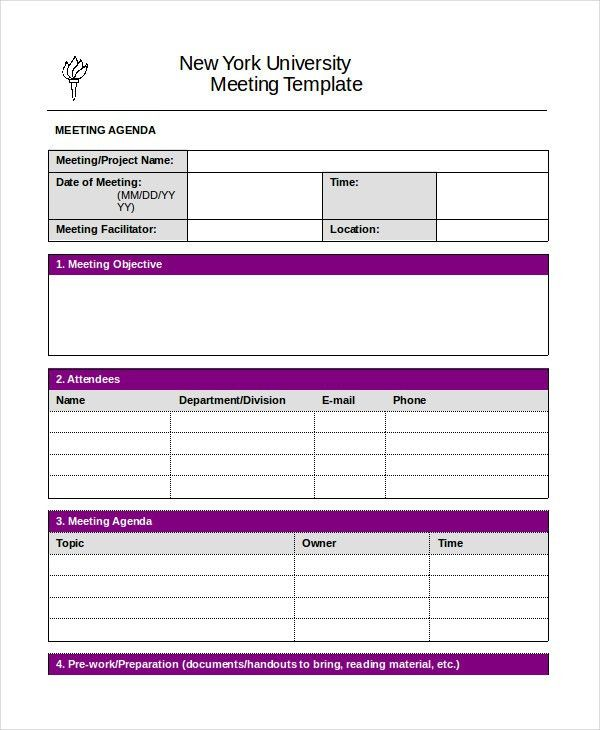 Word Agenda Template - 6+ Free Word Documents Download   Free ...