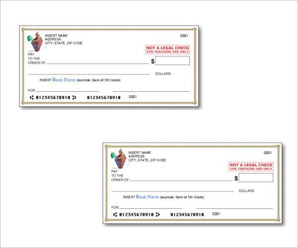 Cheque Templates – Free Word, PSD, PDF Format Download | Creative ...