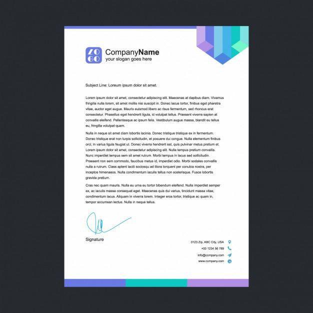 Multicolor letterhead template Vector | Free Download