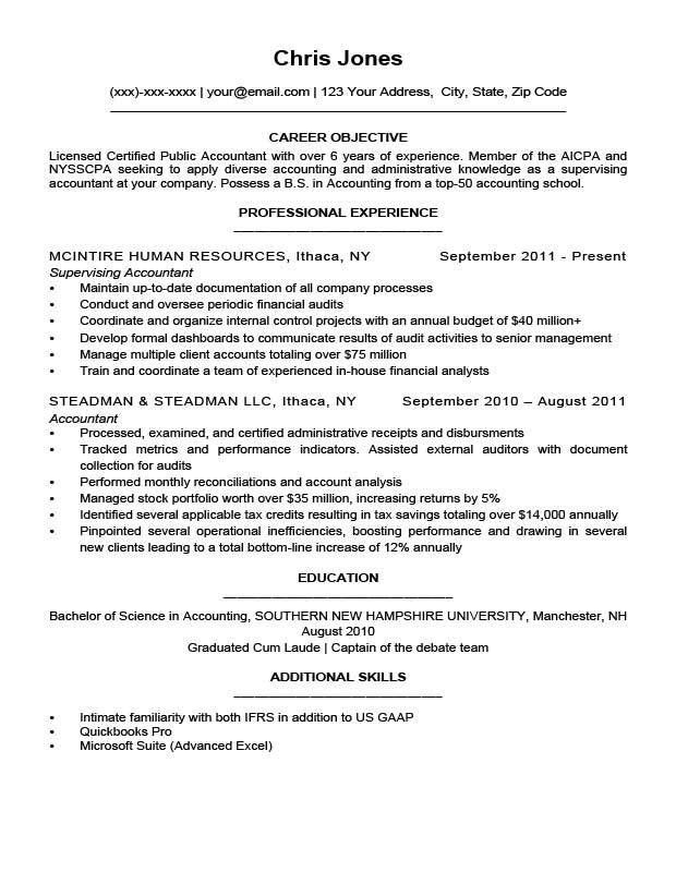 Objective Sample For Resume. A Resume Objective Sample Internship ...
